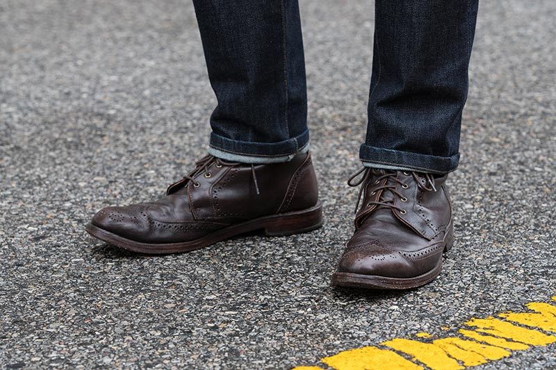allen-edmonds-chocolate-brown-dalton-leather-boots-with-jeans-single-roll