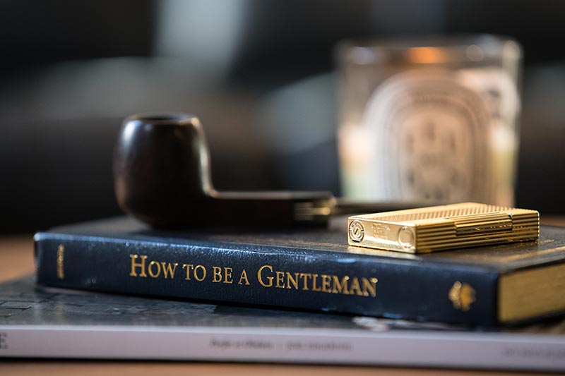 how-to-be-a-gentleman-book-with-pipe-and-lighter-being-a-gentleman