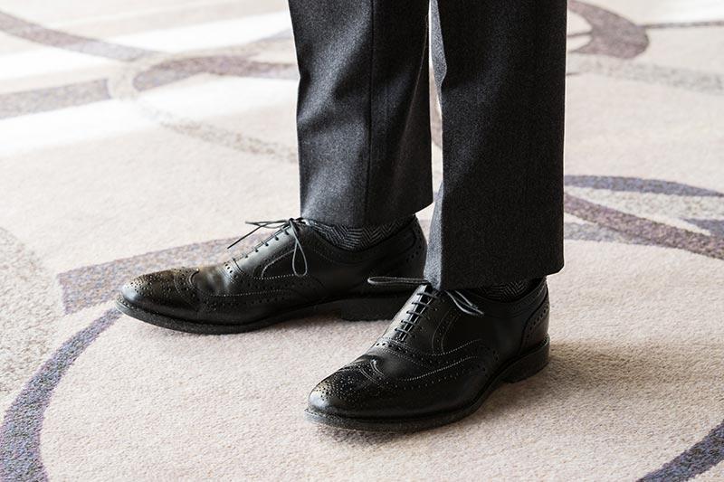 black-leather-wingtip-dress-shoes-grey-flannel-pants-alternate-black-tie-outfit-idea-men