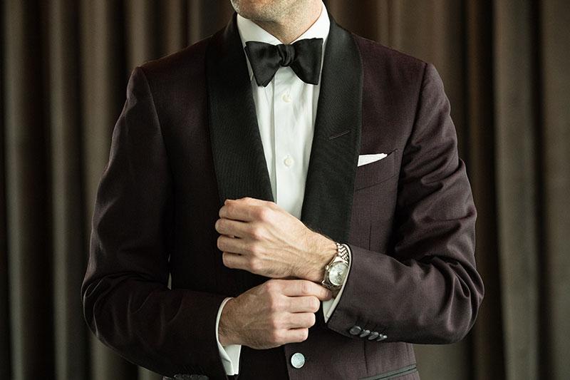 wearing watch with tuxedo black tie optional