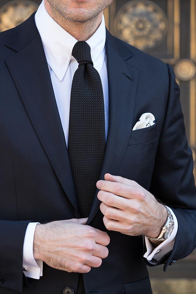 navy-suit-black-tie-textured-cocktail-attire-for-men-white-shirt