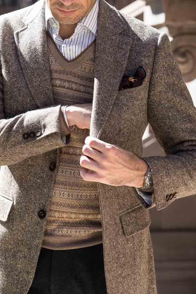 how to wear fair isle sweater