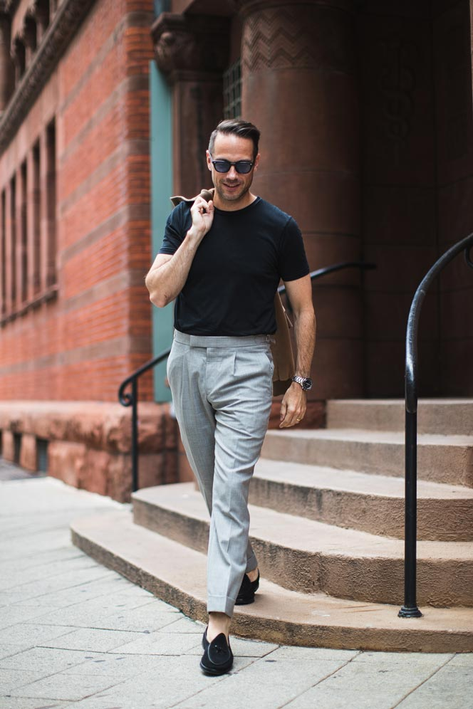 t-shirt formal pants