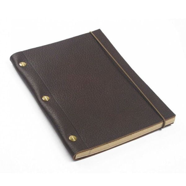 Dark Brown La Compagnie du Kraft Leather Notebook