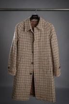 Brown Houndstooth Balmacaan Coat