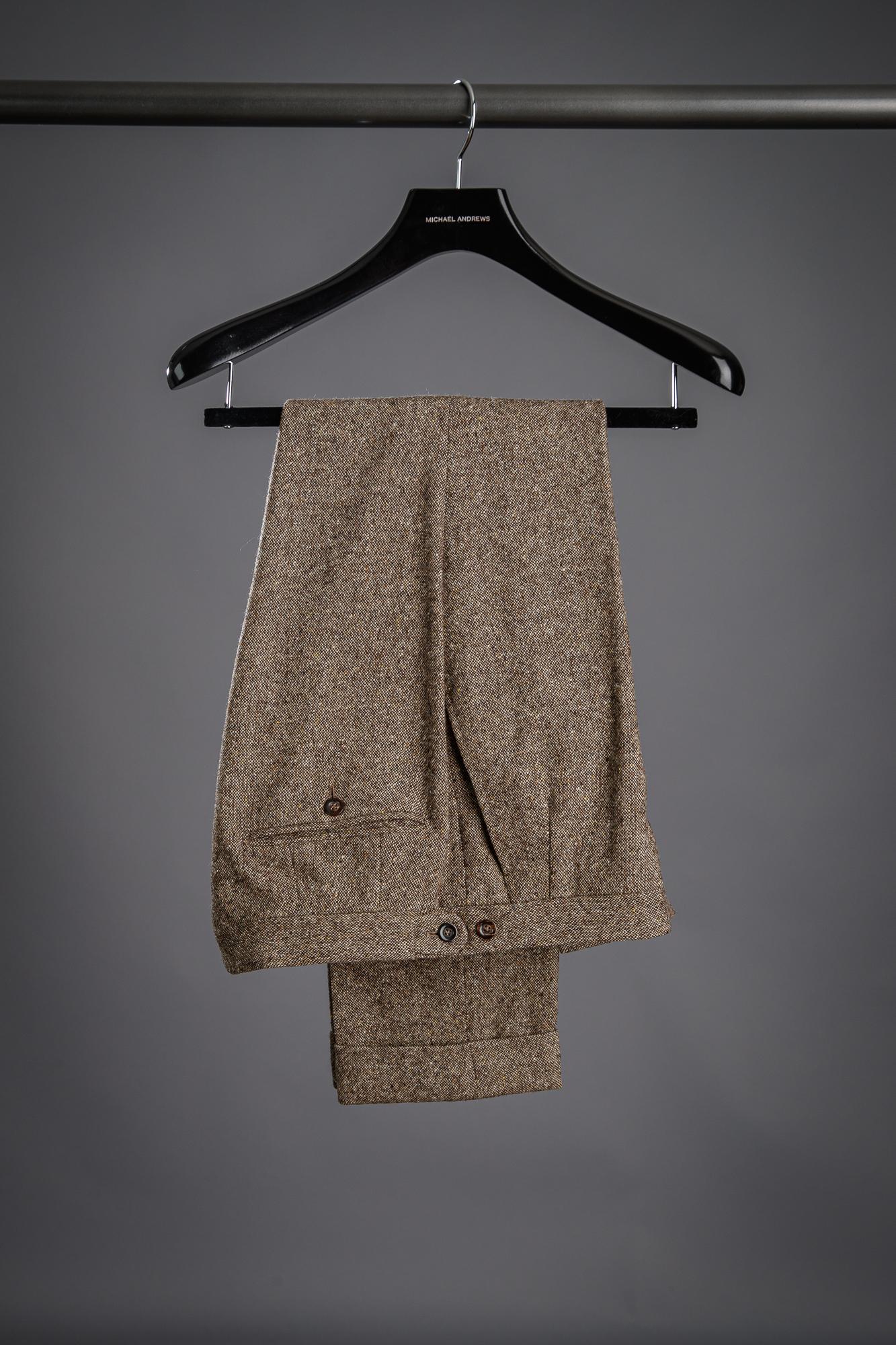 Brown Donegal Tweed Pants