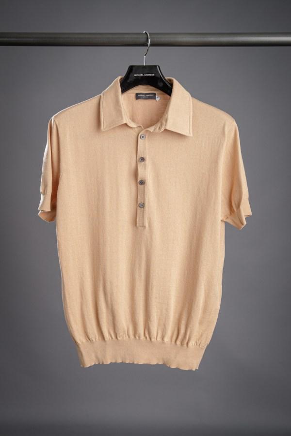 Camel Pima Cotton Polo Shirt