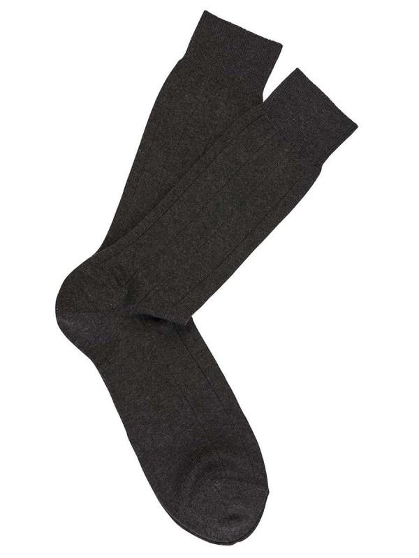 Charcoal Pima Cotton Dress Socks