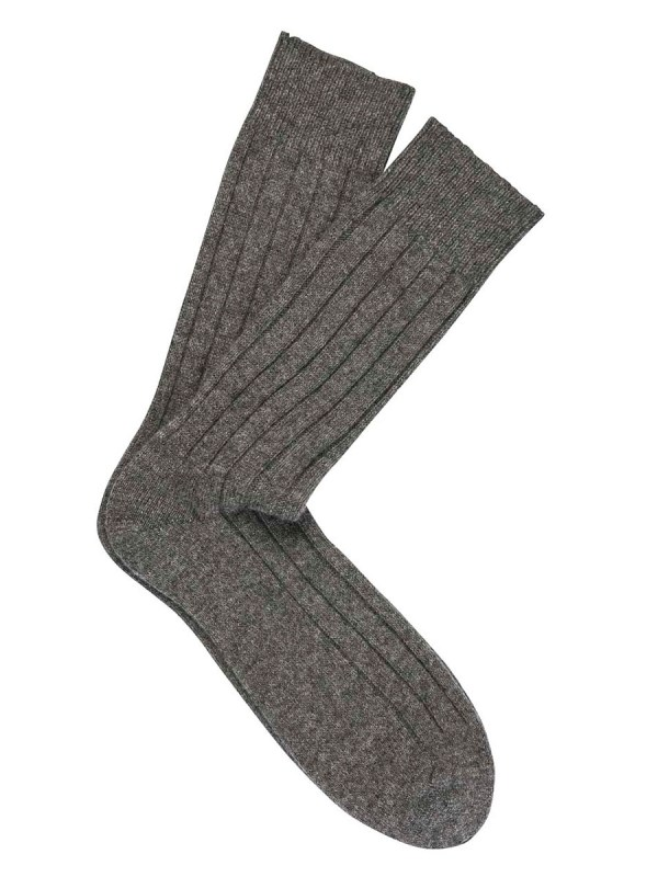 Cashmere Dress Socks Flannel Grey