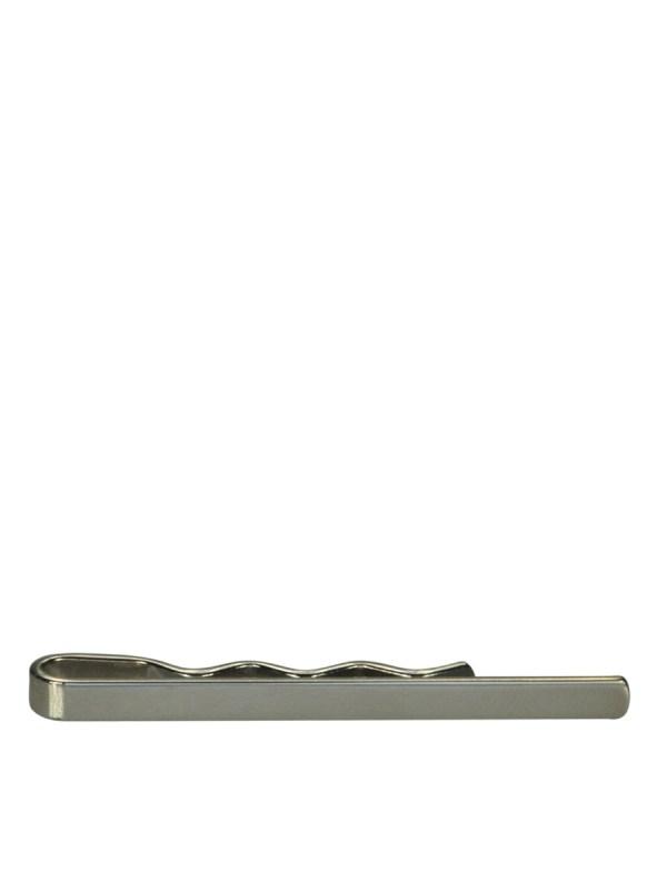 White Rhodium Tie Bar