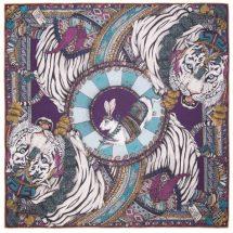 The Tasseled Tigers Aqua/Aubergine
