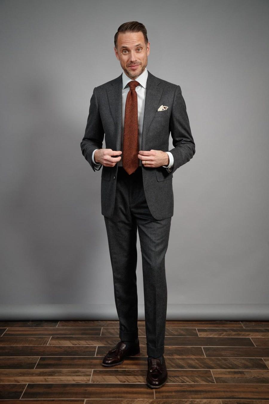 five-ways-to-wear-grey-flannel-suit-for-men-rust-tie-white-shirt-tassel-loafers-2021