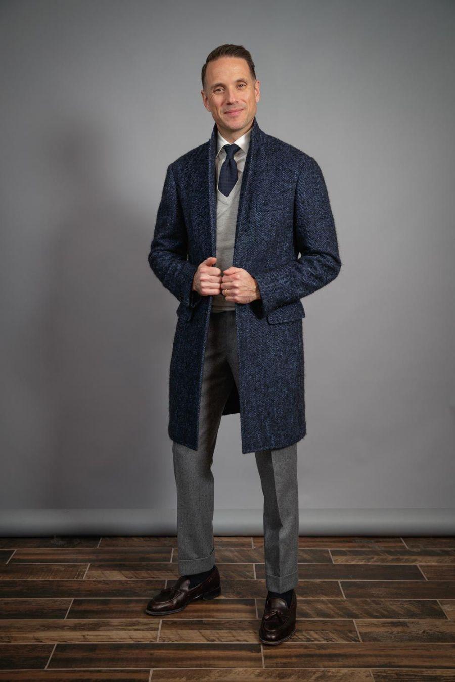 grey-v-neck-sweater-with-grenadine-tie-tassel-loafers-for-men