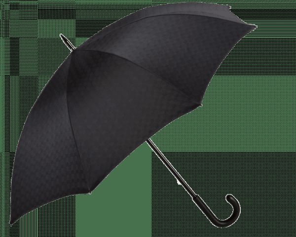 Black Mini Galles Umbrella with Black Padded Leather Handle