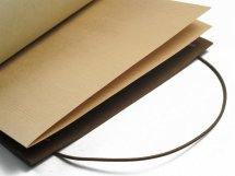 Tan La Compagnie du Kraft Leather Notebook