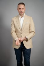 Khaki Cotton Sport Coat