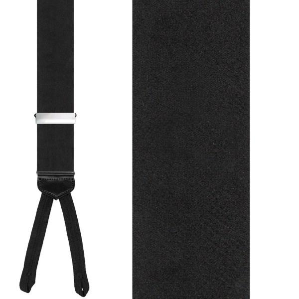Formal Black Silk Suspenders