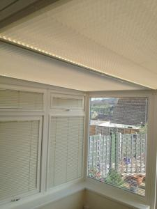 blinds fitted in conservatory