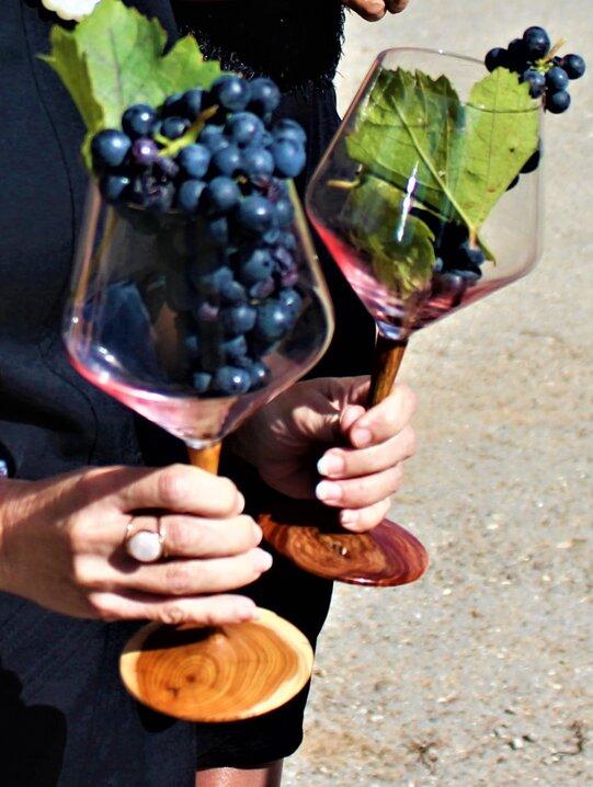 Bed & Wine Luxus-Weinglas aus Rosenholz