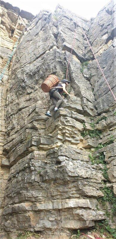 Klettern mit Weinbuette in Hessigheim Felsengaerten