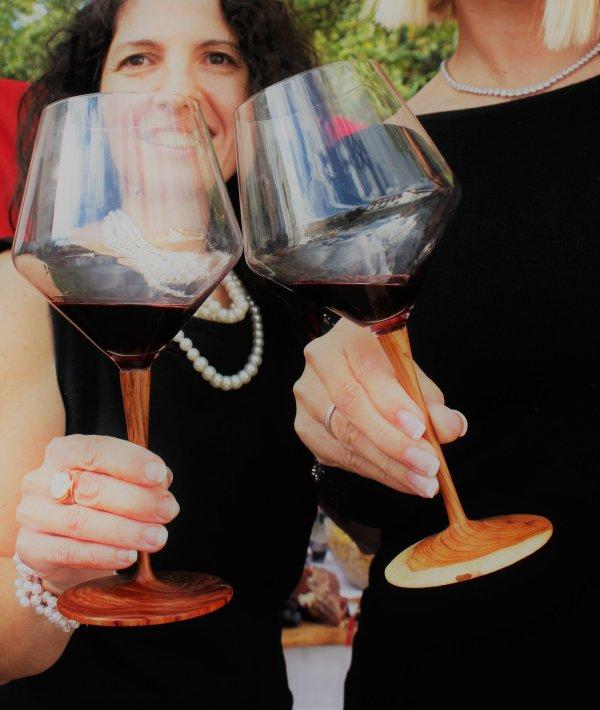 Bed & Wine Luxus-Weingläser aus Rosenholz