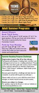 SRP Teen & Adult Schedule 2014