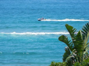 A jetski spotted from our balcony early in the morning
