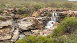 Namaqualand waterfall in Nieuwoudtville
