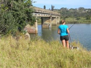 Train bridge crossing over the Mtwalume river