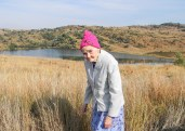 My mother in the Suikerbosrand Nature Reserve