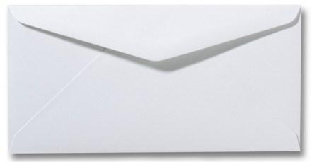 envelop wit enkele kaart