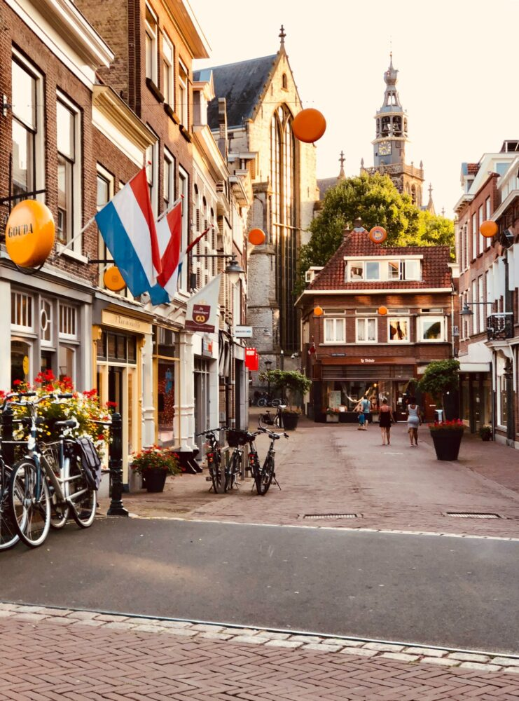 Het Gezinsleven - Gezinsactiviteiten - Feestdagen - Koningsdag 2021 - Straat versierd met Nederlandse vlaggen