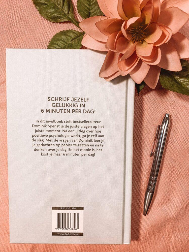 Het Gezinsleven - Lifestyle - Hobby's - Boeken - Review van het 6 minuten dagboek - De achterkant