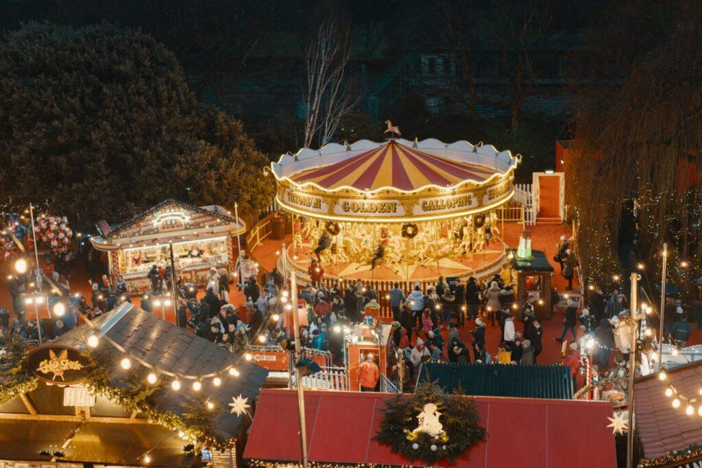 Het Gezinsleven - Uitstapjes - Evenementen - Kerstmarkten draaimolen