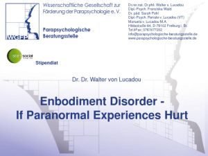 thumbnail of 08 Walter von Lucadou – Embodiment Disorder