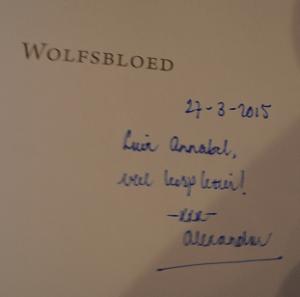 Wolfsbloed handtekening