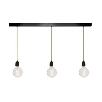 No.11 Hanglamp balk 3 lichts ZWART