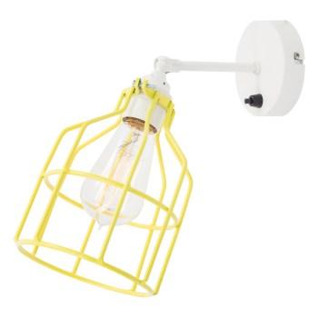 No.15 Wandlamp wit met gele kooi