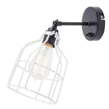 No.15 Wandlamp zwart met witte kooi