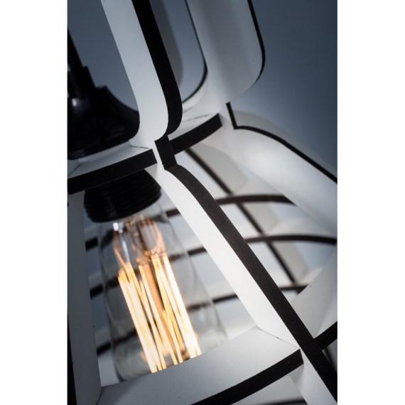 No.19XL industrielamp WIT MDF 60cm by Olaf Weller
