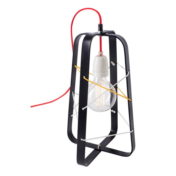 No.31 Tafellamp lichtkooi Medium ZWART