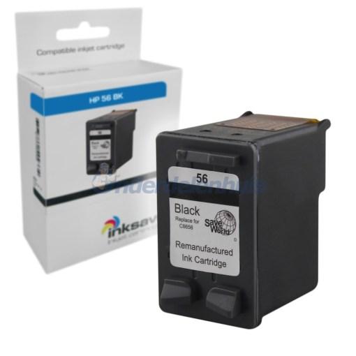 Inkt Inksave HP 56 Inktpatroon Zwart