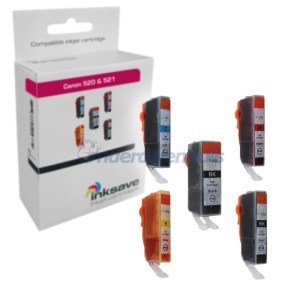Inksave Multipack Canon 525 526 Inkt Inktpatroon