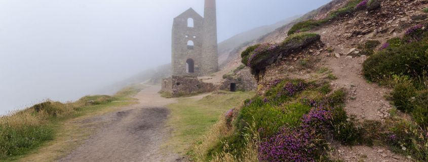 Engine House in Cornwall in the mist