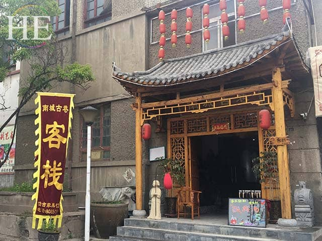 a lovely storefront in old city luoyang china