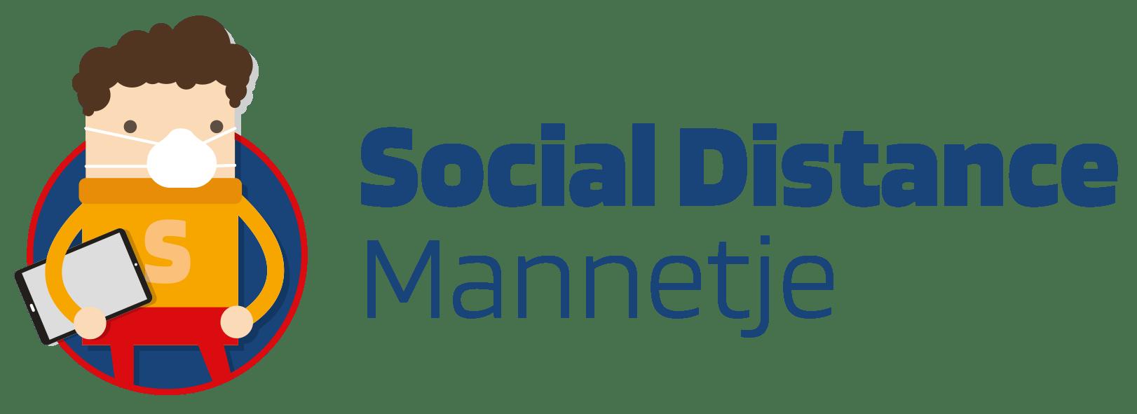Social Distance Mannetje - Social Media Mannetje - Social Media Uitbesteden