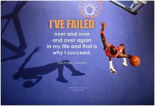 Michaël Jordan a échoué aussi