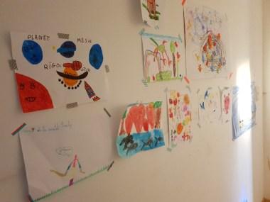 mur dessins enfants