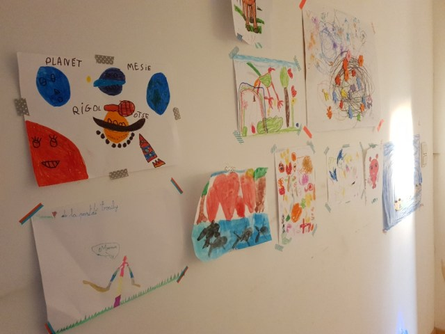 mur dessins enfants