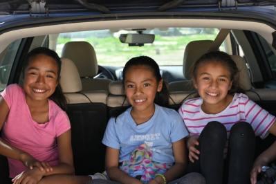 enfants dans la voiture